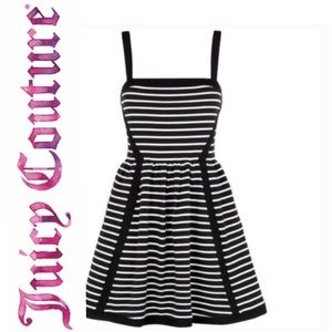 Juicy Couture Cocktail Dress Black & White Stripe